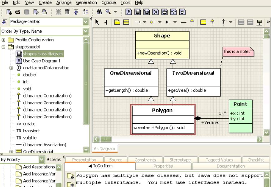 argouml data modeling tool print screen - Use Case Tools Open Source