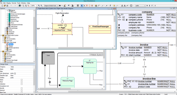 Open ModelSphere - one of the best open source data modeling tools