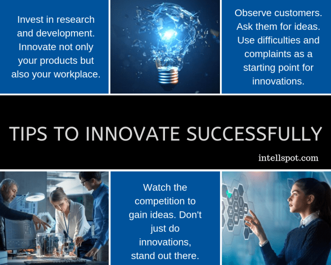 Tips to innovate - infographic