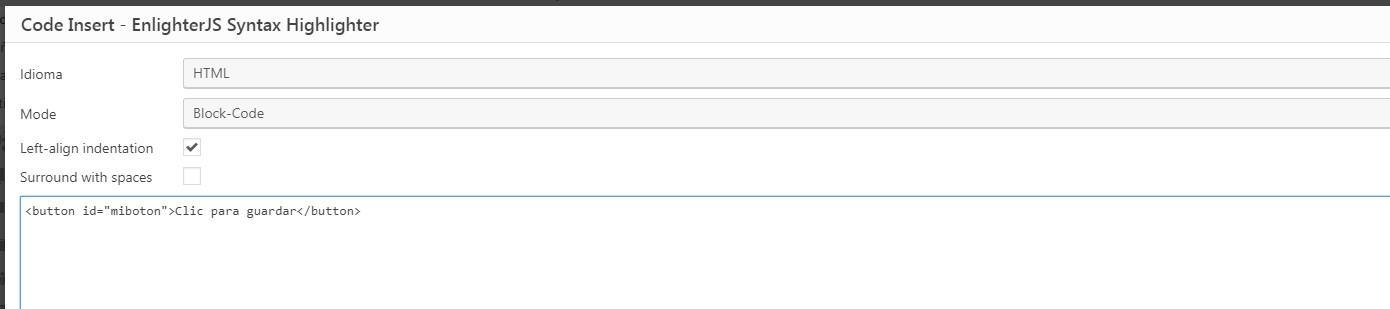insertar y mostrar código en las publicaciones de mi blog wordpress - 6