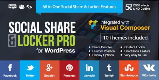 Social Share & Locker Pro- 20 Best Social Sharing Plugins For WordPress