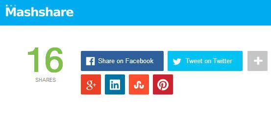 mashshare - 20 Best Social Sharing Plugins For WordPress