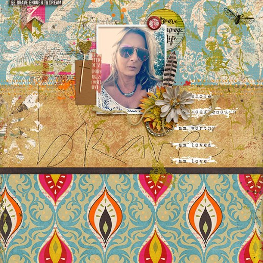 Everyday Brave by Etc. by Danyale and Studio Basic TLP September Challenge Template by Just Jaimee
