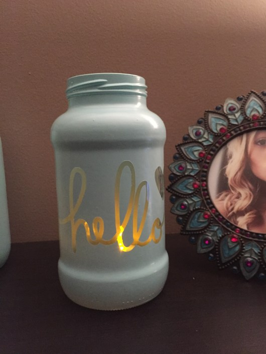 Painted Jar using word art by Traci Reed