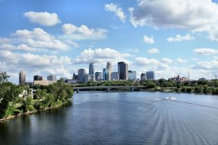 Downtown Mpls from the Broadway Bridge - by AndoR