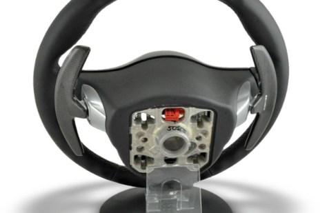 porsche pdk paddle steering wheel carbon fiber trim back