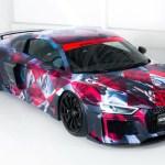 珍しいアウディR8のアートカー公開。ABTとデザインオフィスとのコラボ作品