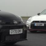 日産R35 GT-R NISMOとGRヤリスとがサーキットにて禁断の対決