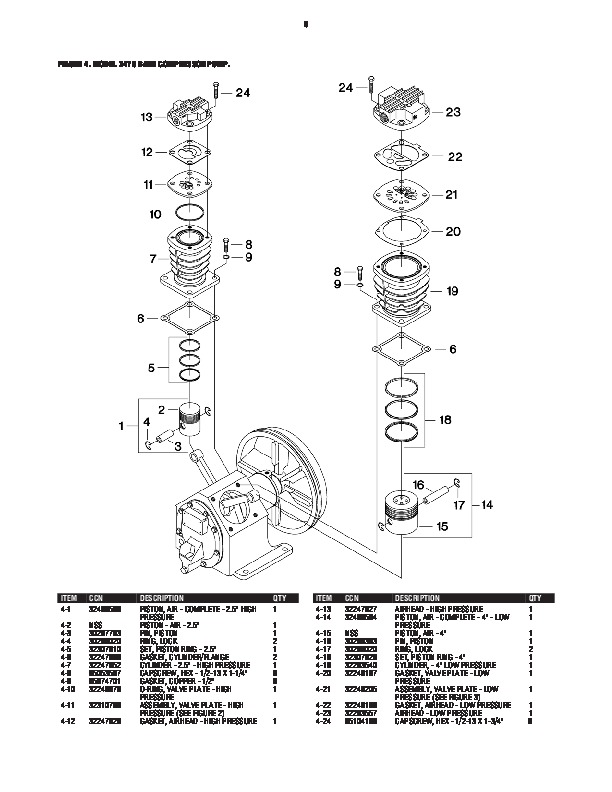 Ingersoll Rand P185 Air Compressor Parts Manual