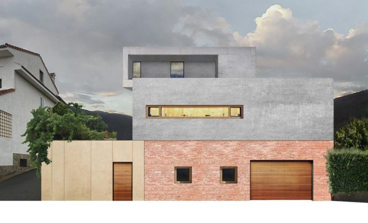 Fachada vivienda en Ávila