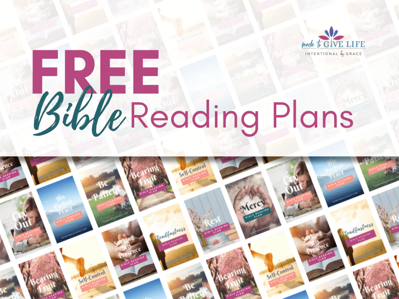 Free Bible Reading Plans Intentional By Grace