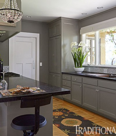 Gray Kitchen Cabinets. intentionaldesigns.com