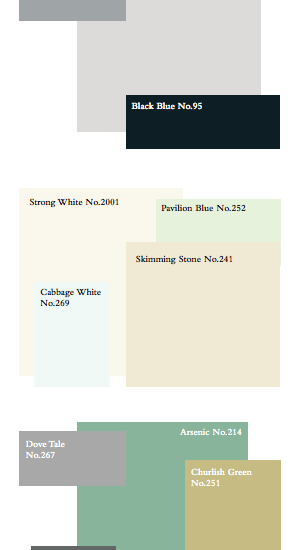 Great Gatsby Paint Colors from Farrow & Ball. intentionaldesigns.com
