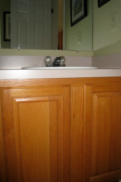 DIY BEFORE - Before & After, Bathroom Vanity Makeover. www.intnetionaldesigns.com