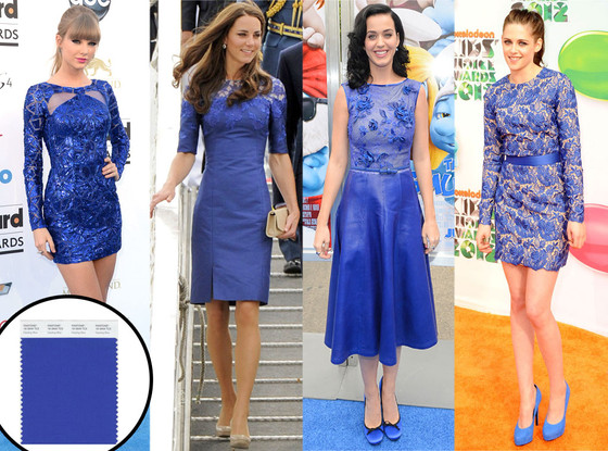 Celebrities wearing Pantone Dazzling Blue