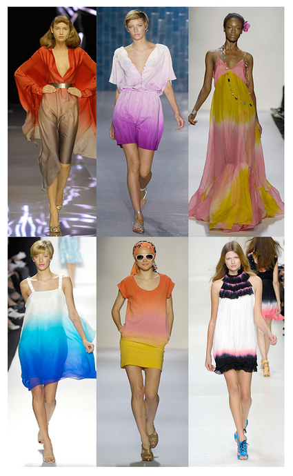 "From www.runwaydaily.com  ""fashion week frenzy"" Ombre"