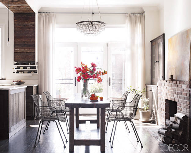 Keri Russell and her husband Shane Deary's Brooklyn apartment dining room - ELLE DECOR