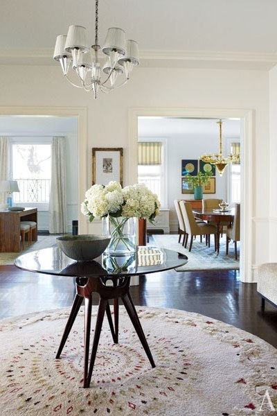 Architectural Digest. MICHAEL J. FOX AND TRACY POLLAN'S MANHATTAN HOME. Interior design firm Gomez Associates. Photography by William Abranowicz.