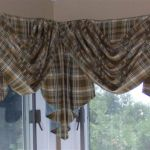 Window treatment ... Swag and Jabot for a corner window