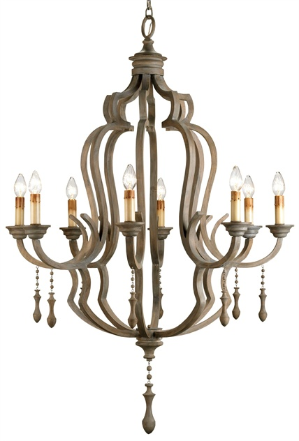 From Currey and Company: Waterloo Chandelier