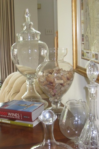 Planning for your Fall Decorating, diy wine corks in glass jars