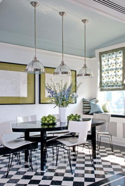 summer decorating guide, painting an accent wall, black and white tile
