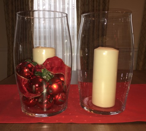 DIY Holiday Decoration, after.