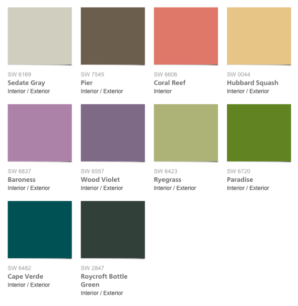 Buoyant Paint Collection from Sherwin-Williams