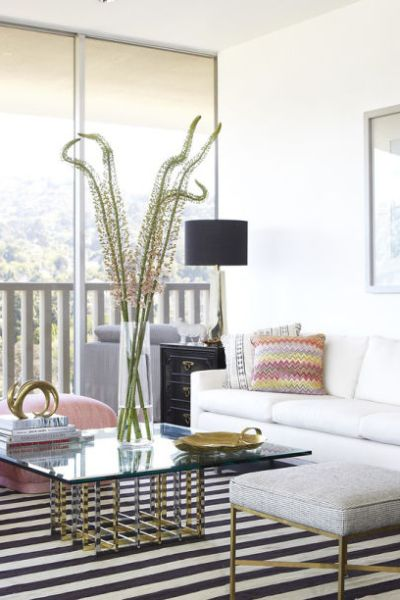 Living Room: Los Angeles home of Ellen Rakieten, Designer Anne Coyle.