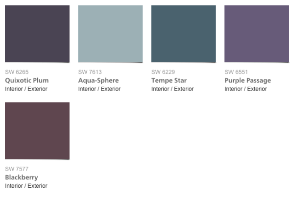 Paint Colors 2016, Sherwin-Williams Trajectory Collection