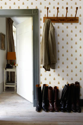 Trends in Wallcoverings, Farrow & Ball Bumblebee Wallcovering