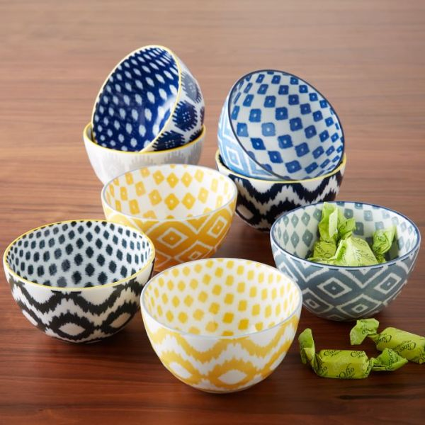 Trend Watch Ikat Patterns, WestElm.com Pad Printed Bowls