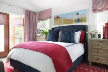 red home decor, Master Bedroom, Urban Oasis 2015, Sherwin-Williams Snowbound SW7004