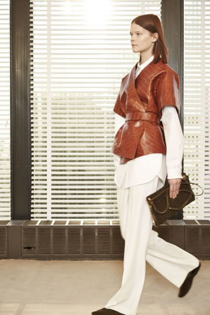 From MarieClaire.com, Mary-Kate and Ashley Olsen's Collection Crocodile Coat .