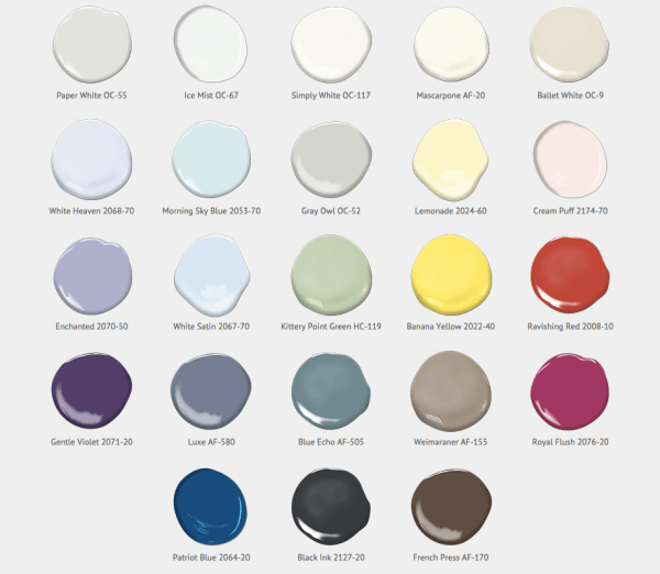"Benjamin Moore ""The Color Palette"" 2016"