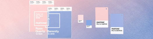2016 Paint Colors of the Year, Pantone Color(s) of the Year 2016. Rose Quartz and Serenity