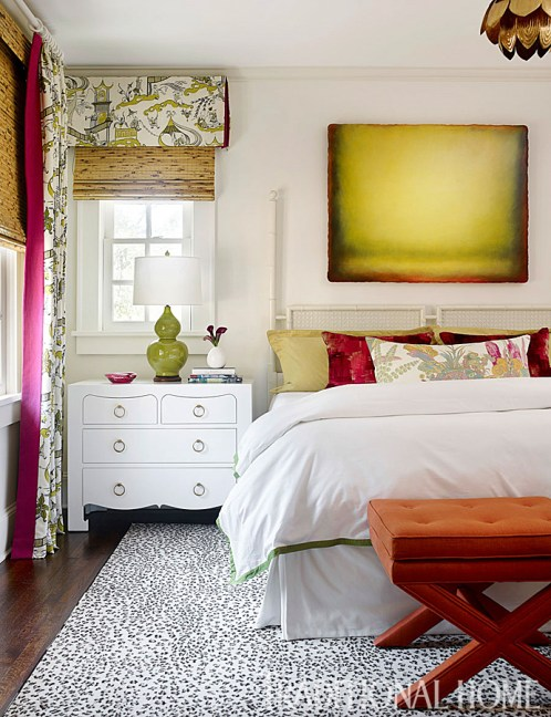 Green Paint Colors & Home Decor Ideas, nightstands