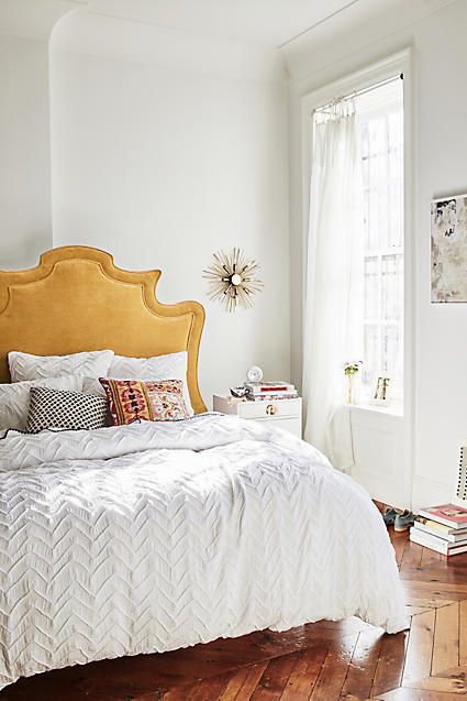 Bedding Trends, Bedding Trends 2016 - Textured Chevron Duvet from Anthropologie.com