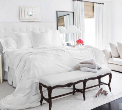 Ottomans, Get the Look: White Bedroom