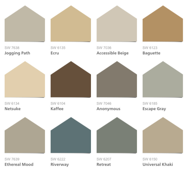 2016 HGTV Smart Home Paint Colors, Sherwin-Williams Neutral Nuance HGTV Home Collection