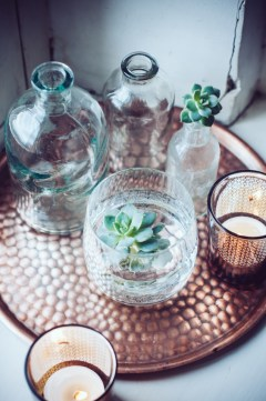 Boho Style Home Decor Collection of Glass