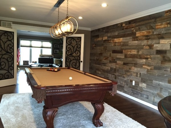 accent wall, stickwood
