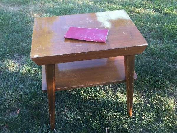 end table refinishing