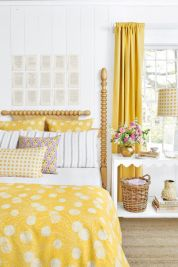 spring decorating, bold fabric patterns