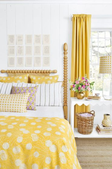 summer-house, spring decorating, bold fabric patterns