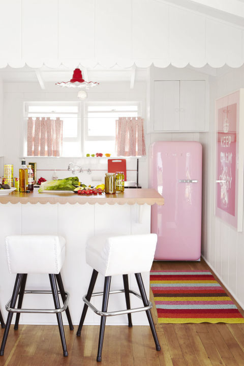 kitchen refrigerators, millennial pink home decor