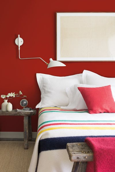 red accents, home decorating blog Spring 2018, 2018 paint colors, Benjamin Moore, Caliente AF-290