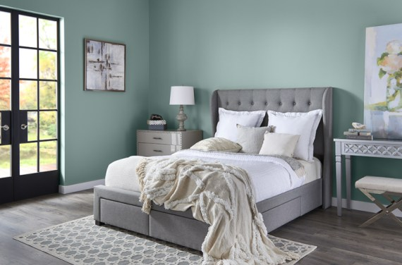 guest room, Behr Color of the Year 2018, In the Moment, Bedroom