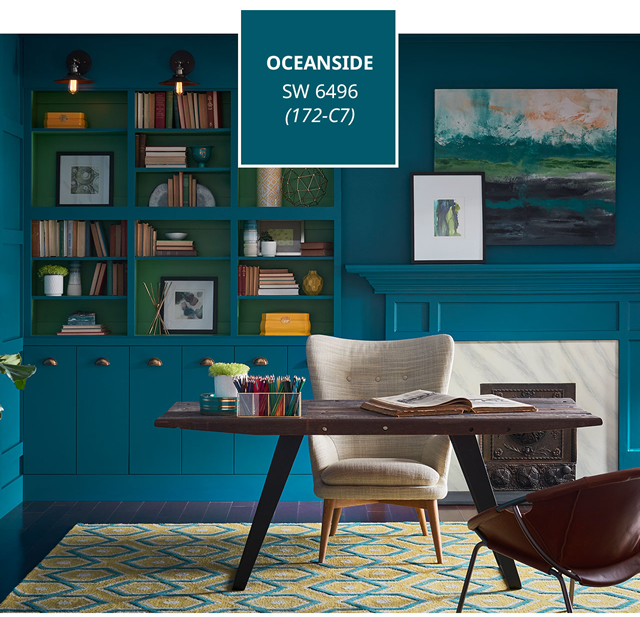 Sherwin-Williams Color of the Year 2018, Oceanside, SW6496