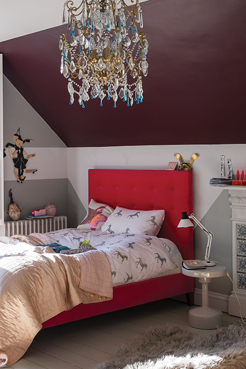 red and gray, Farrow & Ball